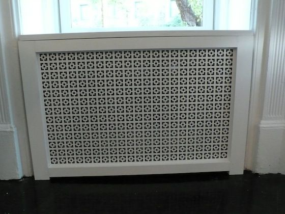 Radiator Cover Painted And Trimmed Out For Wall Screen