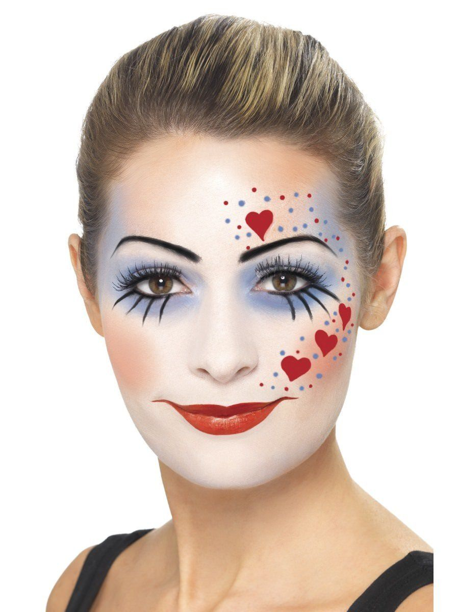 Clown MakeUp Kit Clown makeup, Clown face paint, Female
