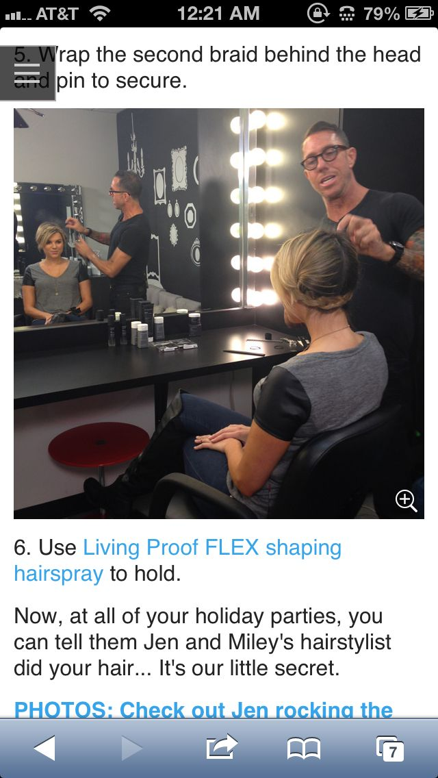 <3 this easy and fast braided updo, as modeled by E! Ali Fedatowsky