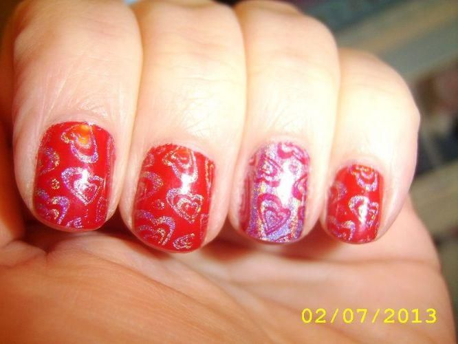 OPI A Oui Bit of Red and CC Halo Graphic