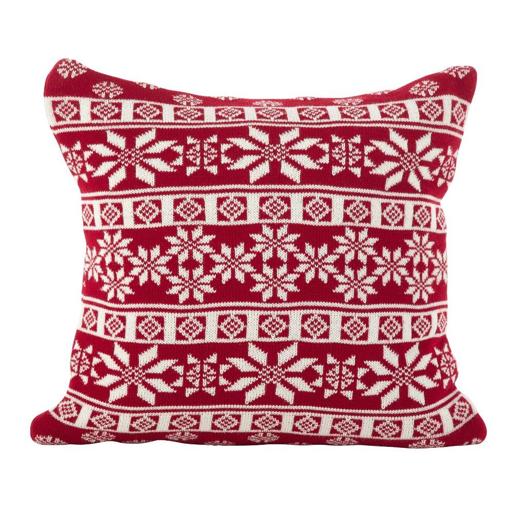 Throw Pillow Saro Lifestyle Rocker Red, Adult Unisex