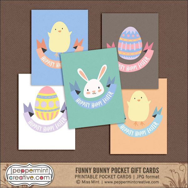 Free download easter gift tag pocket cards scrapbooking free download easter gift tag pocket cards printable negle Images