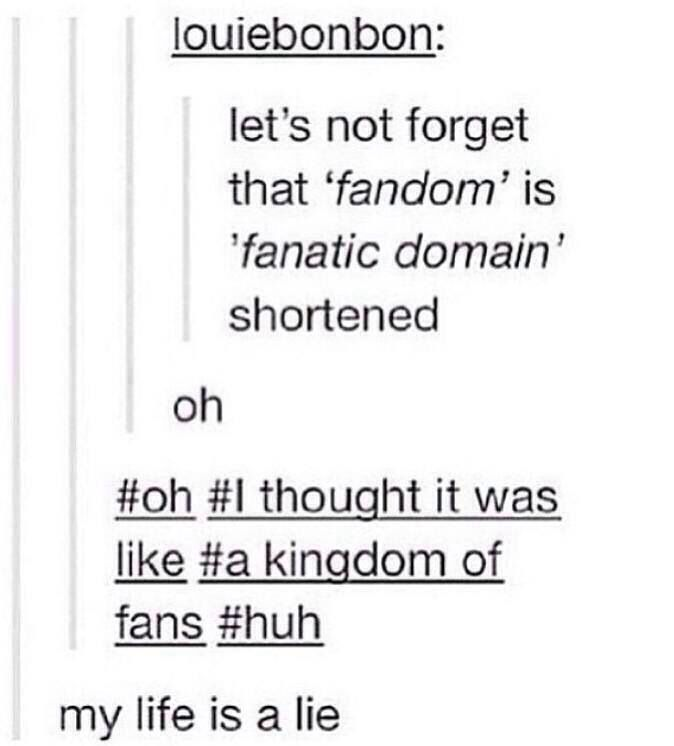 Well Then I Also Thought It Was A Kingdom Of Fans But   Who