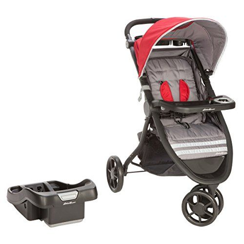 Amazon.com: Eddie Bauer Alpine 3 Travel System with SureFit Infant ...