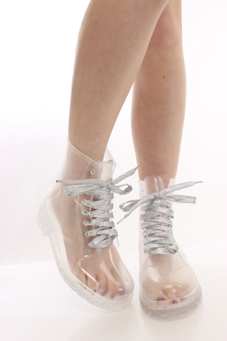 Silver Clear Plastic Two Tone Jelly Boots Boots Catalog women s winter boots leather thigh