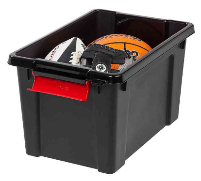 Iris 5 Gallon Heavy Duty Secure Storage Totes Container Box With