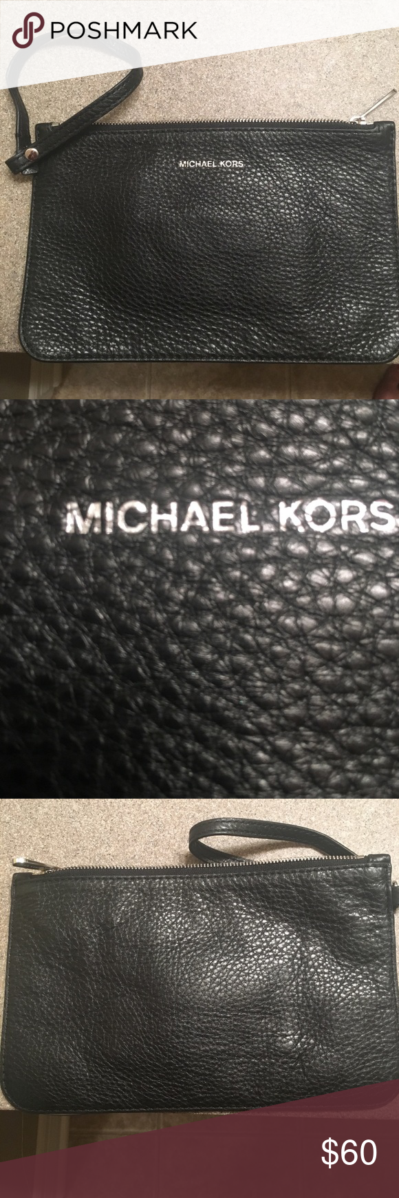 NWOT Authentic Michael Kors Wristlet Small, black wristlet. Never used. Smoke free home. Has three pockets for credit cards. Great to take for a night out! No trades. WILL BUNDLE W/MATCHING WRISTLET IN OTHER POST FOR $175 total! (Savings of $21)! Michael Kors Bags Clutches & Wristlets