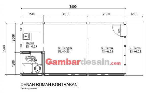 Desain Rumah Kontrakan 2 Lantai Minimalis Penelusuran