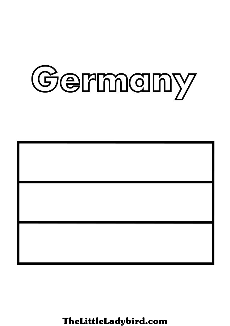 Germany Flag Coloring Page