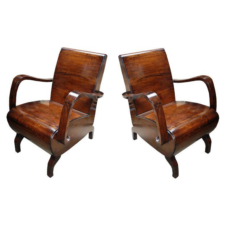 Art Deco Chairs, Circa 1930