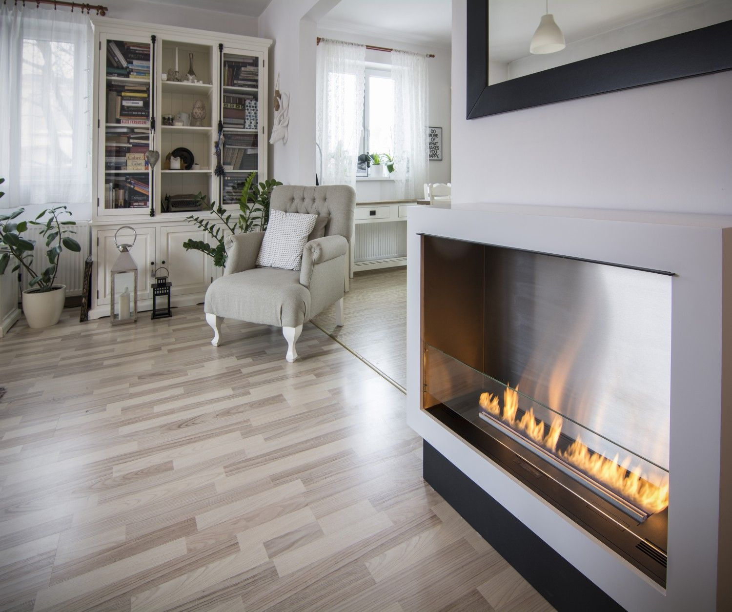 This Fireplace Fits Beautifully In Both Small And Large Rooms