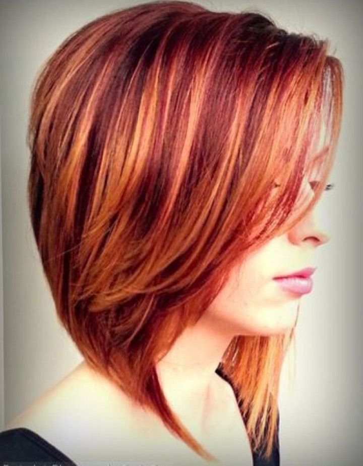 28+ Medium length red hair with blonde highlights inspirations