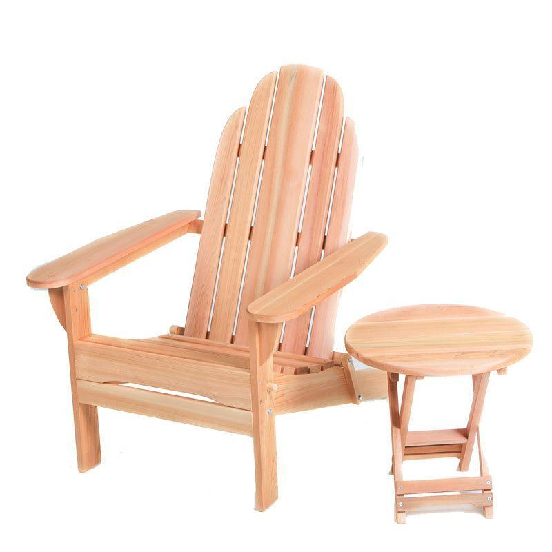 All Things Cedar Western Red Cedar Folding Adirondack Seating Group