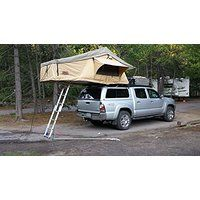 Tuff Stuff Overland Rooftop Camping Tent with Annex Room- Black Driving Cover @ billsoutdooremporium.com