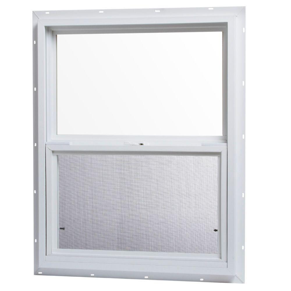 Tafco Windows 24 In X 30 In Single Hung Vinyl Window White Vsh2430op The Home Depot Window Vinyl Single Hung Vinyl Windows Vinyl Casement Windows