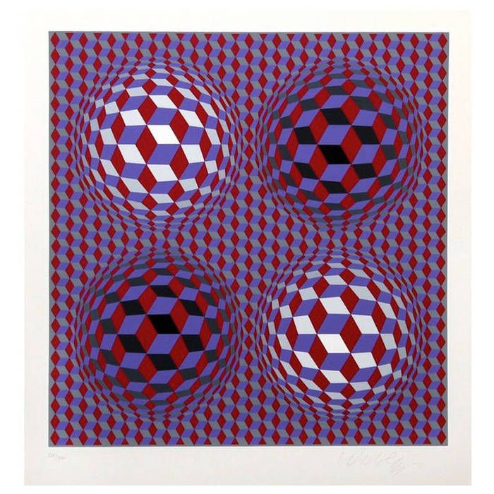 "Limited edition Victor Vasarey seriograph signed and numbered 220/250. Hungary. CIRCA DATA:Mid 20th Century DIMENSIONS:17"" h x 15"" w INVENTORY CODE:DSD-52620 PRICE:$2,250"