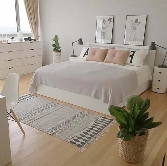 ▷ 1001 + versions stylées de chambre blanche et grise