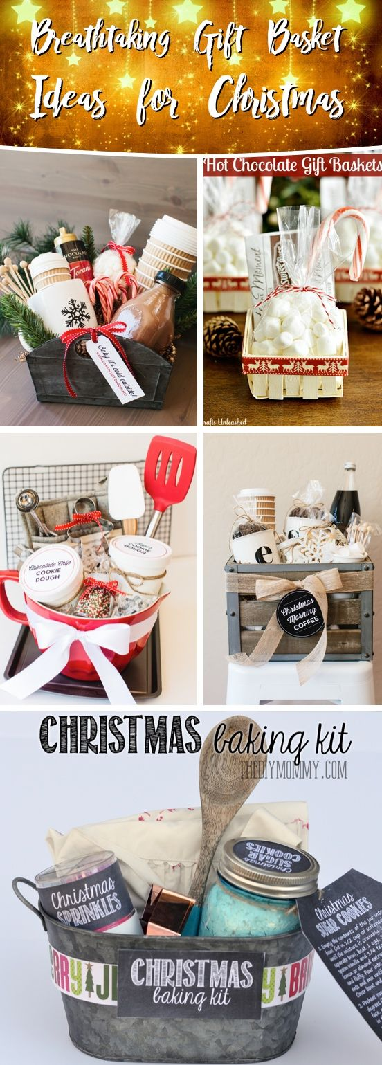 25 Breathtaking Gift Basket Ideas For Christmas That Are Sure To Come Out A Winner Cute Diy Projects Christmas Baskets Homemade Christmas Gifts Christmas Gift Baskets