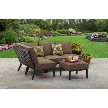 Better Homes and Gardens Hampton Road 5-Piece Cushion Sectional Set ...