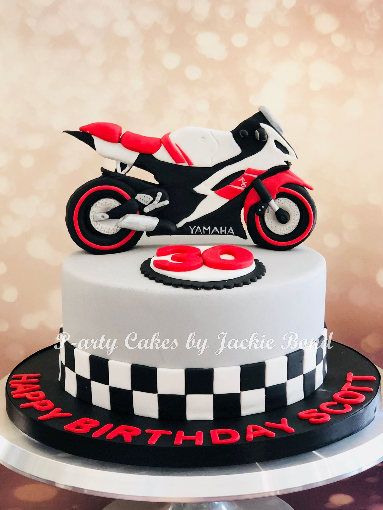 Motorbike Yamaha R6 Cake Oslavy Narozky Motorcycle