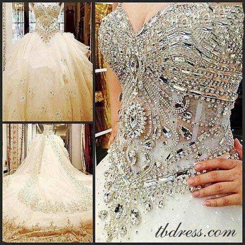 Bedazzled wedding dress! | Wedding | Pinterest | Wedding dresses ...