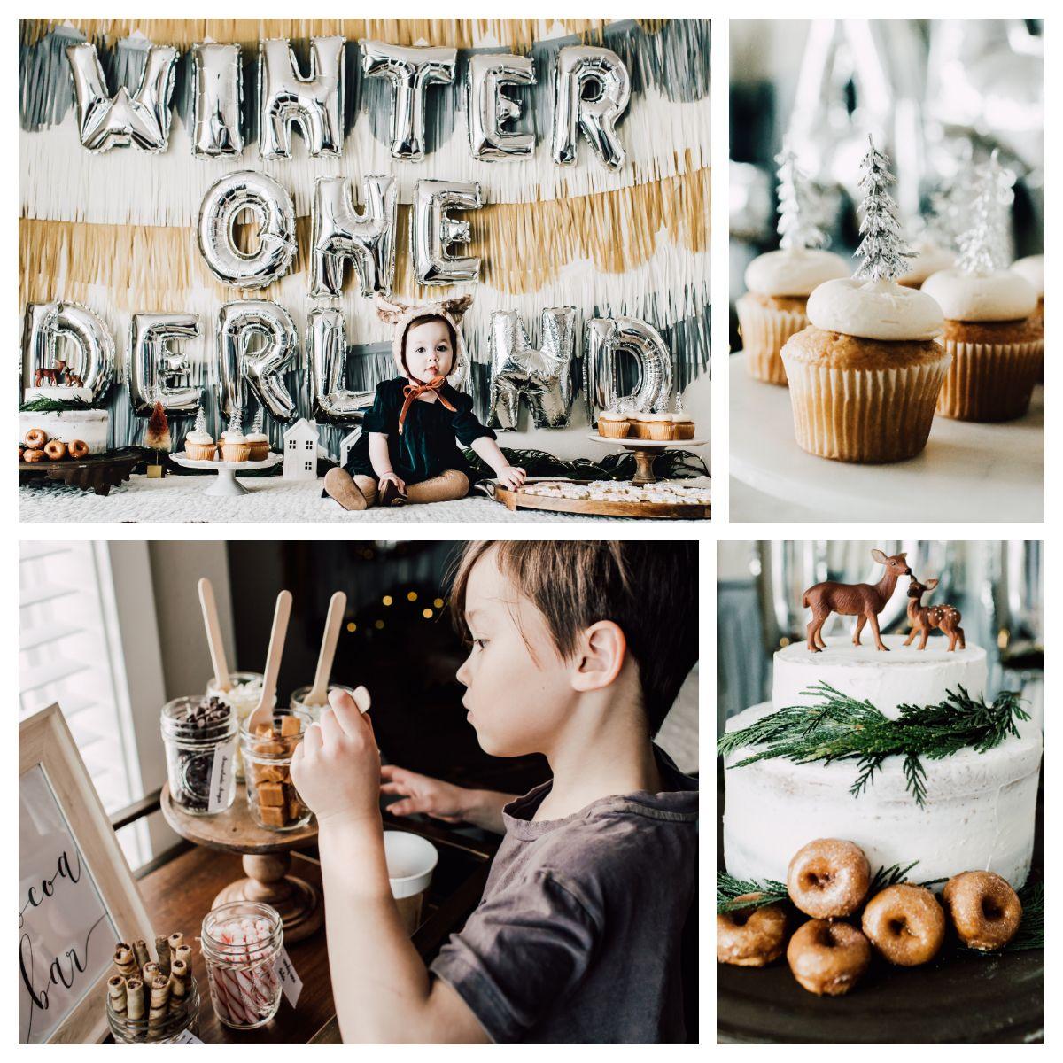Winter Onederland Birthday Party #babyboy1stbirthdayparty