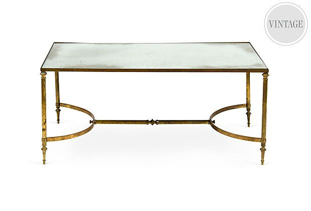 1960s Brass Mirror Coffee Table Mirrored Coffee Tables Table