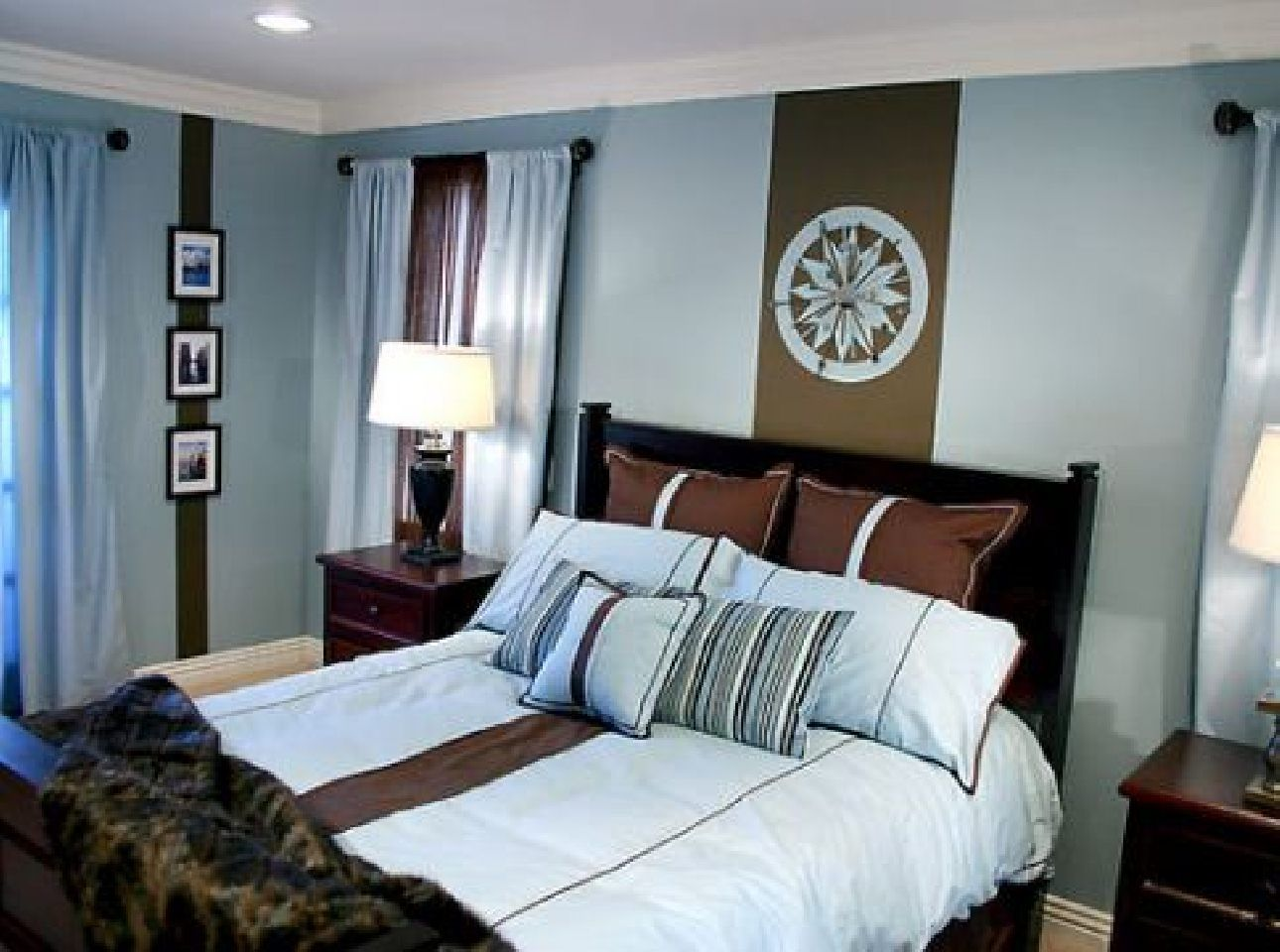 brown+and+teal+color+palette+for+serene+bedroom | Chambre à coucher ...