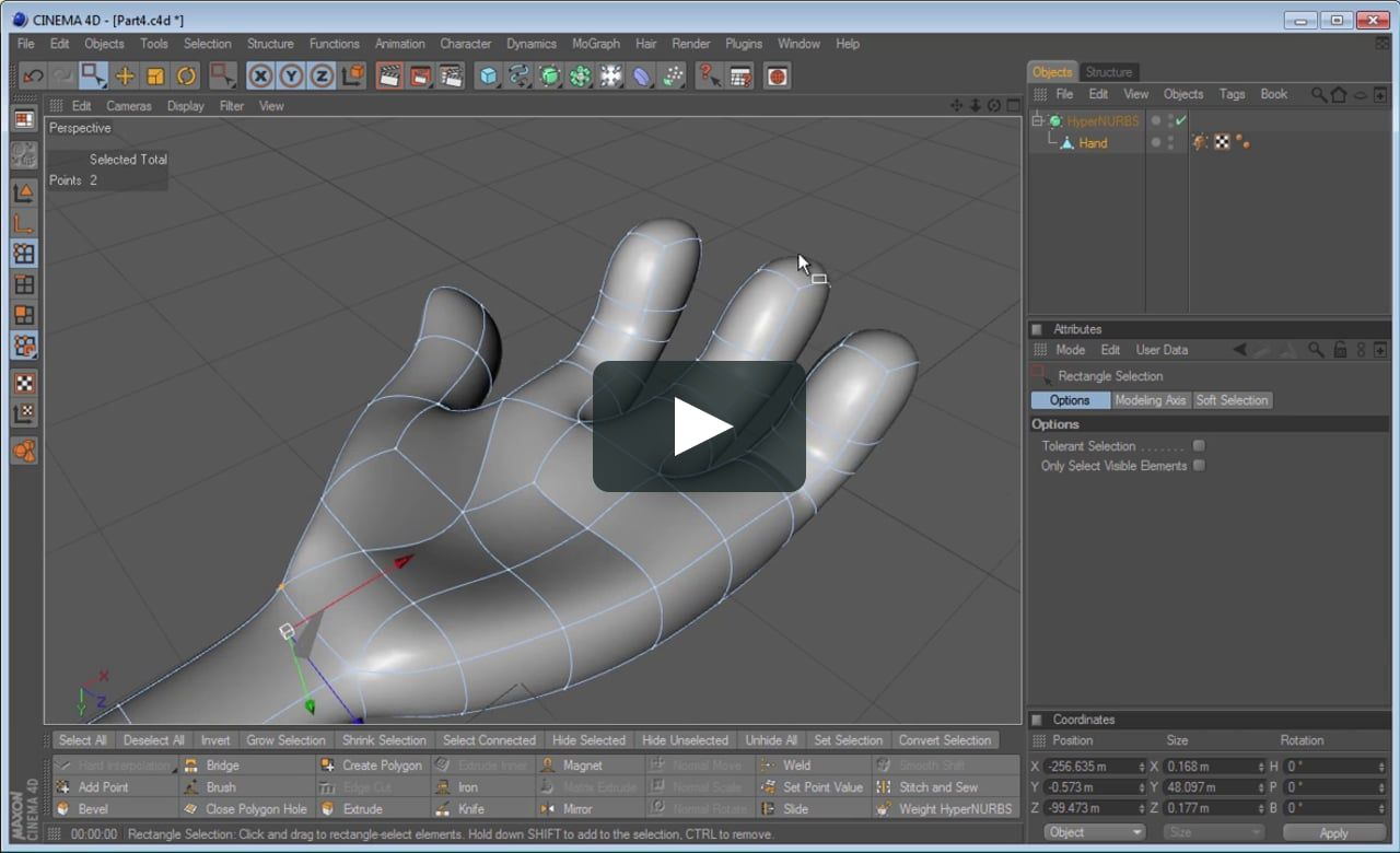 Cinema modeling cloth with collision deformer youtube