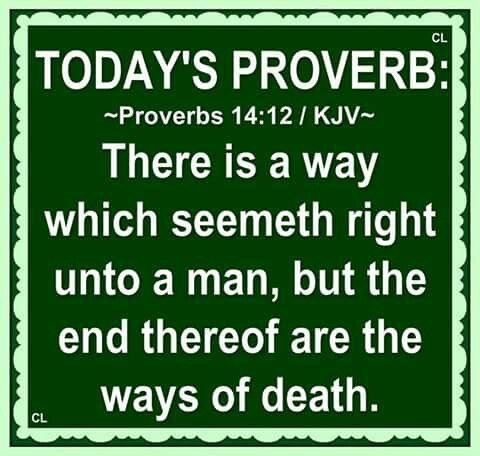 Proverbs 14:12 KJV