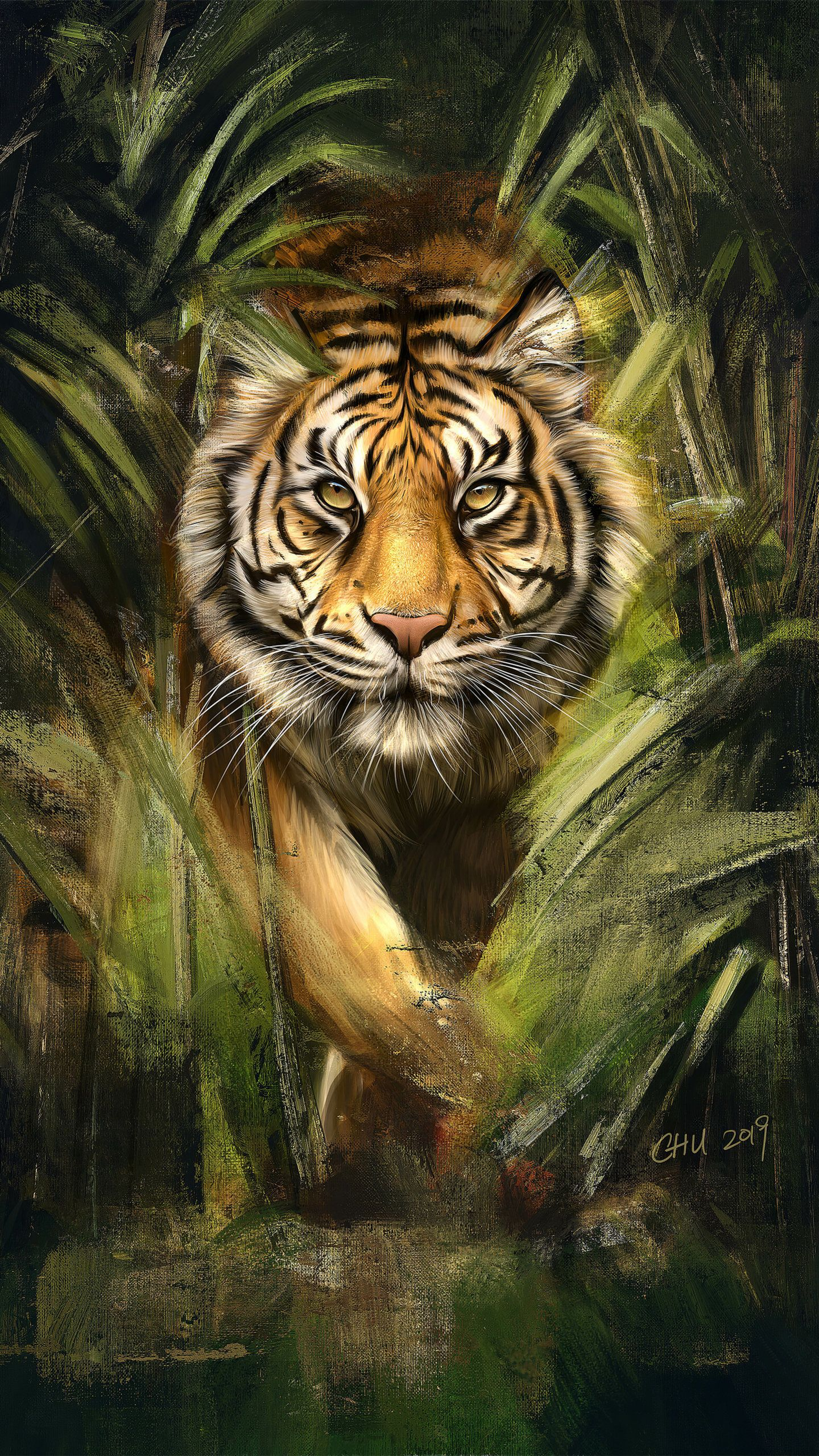 Tiger Painting Art Hd Animals Wallpapers Photos And Pictures Id 44969 Tiger Painting Tiger Pictures Tiger Artwork