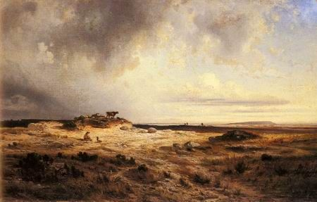 An Extensive Landscape with a Stormy Sky by Michel Georges ...