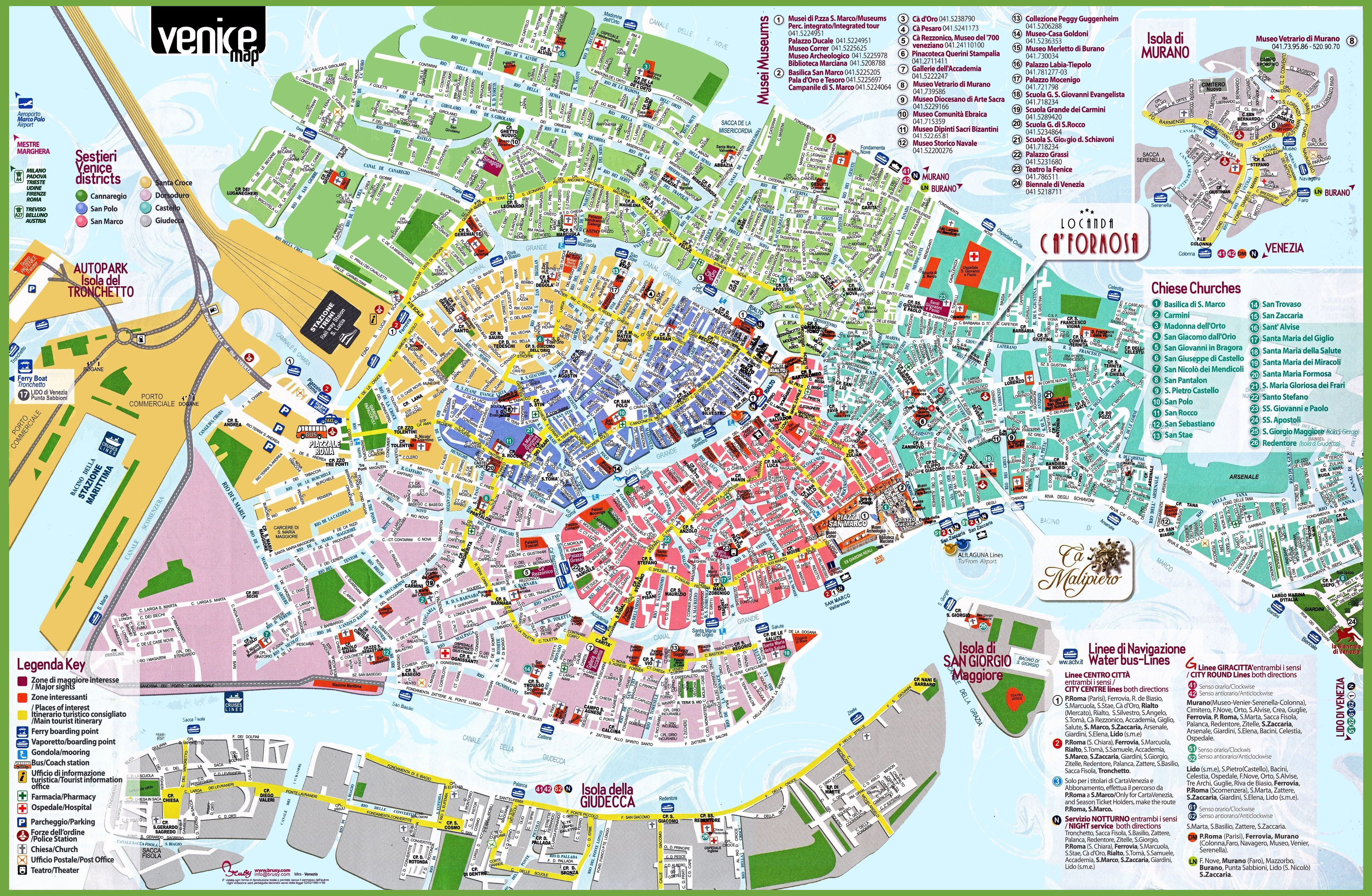 Florence Italy Map