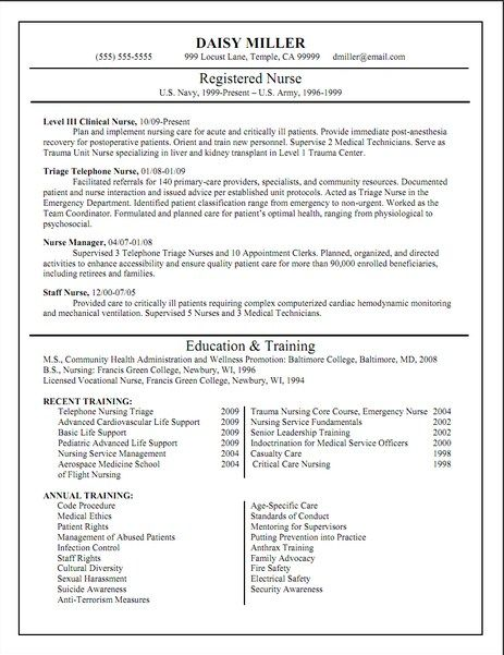 Registered Nurse Resume Templates  HttpJobresumesampleCom