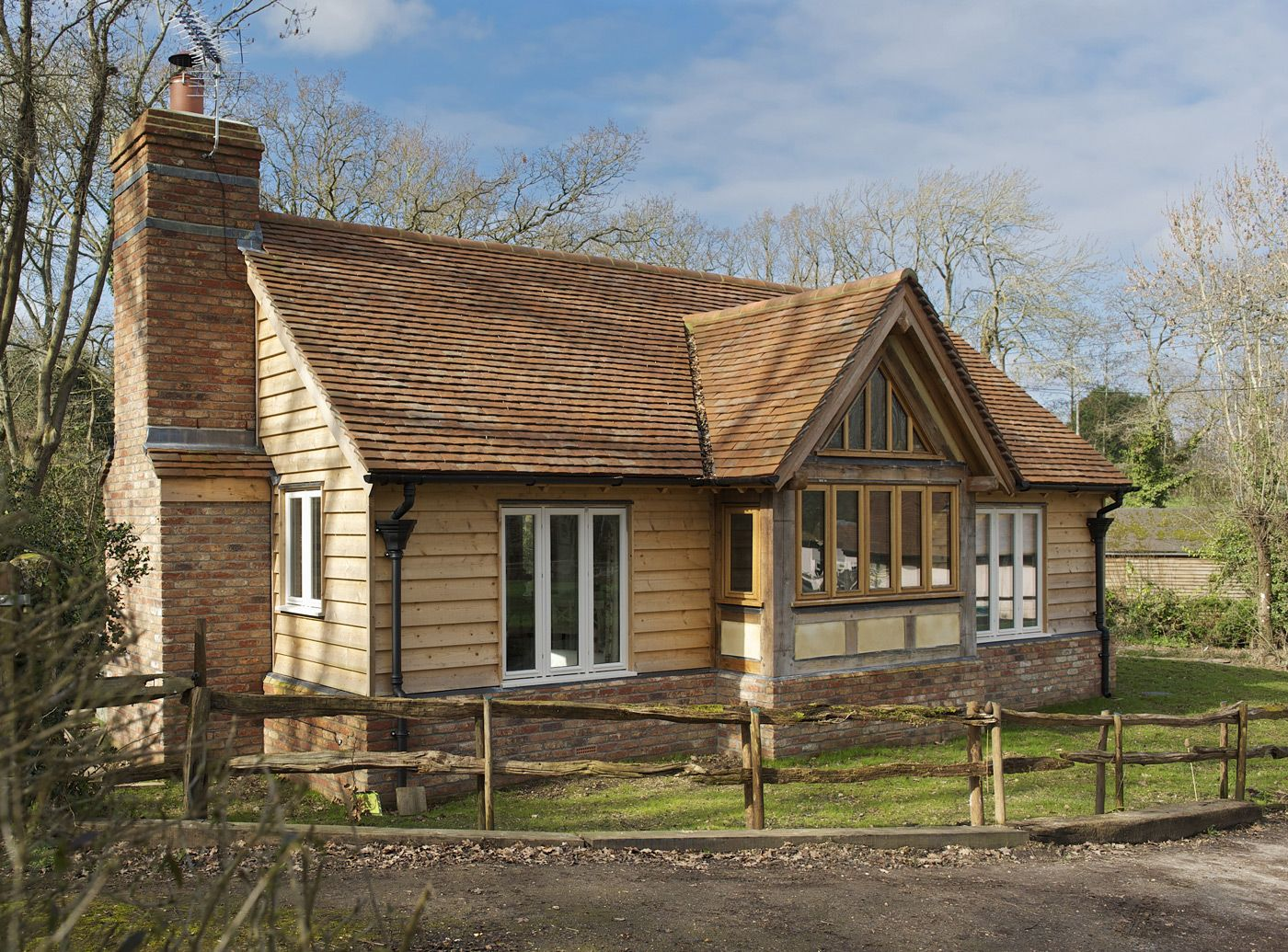 Single storey border oak oak framed houses oak framed for Timber frame bungalow
