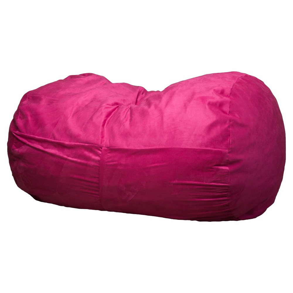 Skylar 4 Foot Bean Bag Chair Fuschia Polyurethane