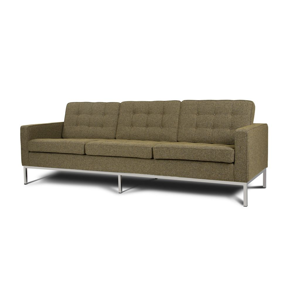 Fabric Florence Knoll Sofa Reproduction Warranty 3 Years Please