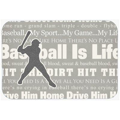 Caroline's Treasures Baseball is Life Glass Cutting Board