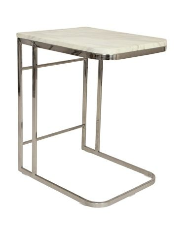 47% OFF Control Brand Carrara Marble and Stainless Steel Side Table ... f6a8cc3ef0