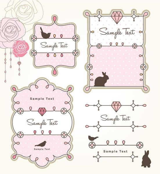 freevectorclipartcollections cute vector frames stock download