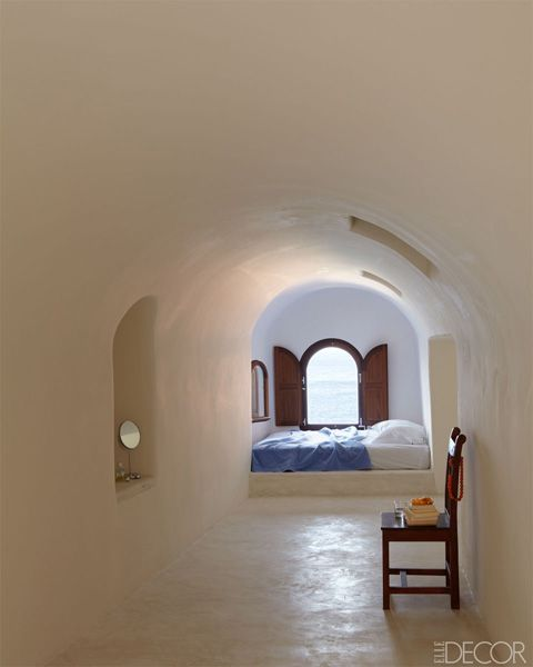 Simple Dream Bedroom In Santorini Cob カフェ インテリア