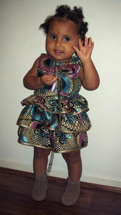 African Print Girl S Dress African Children S Fashion