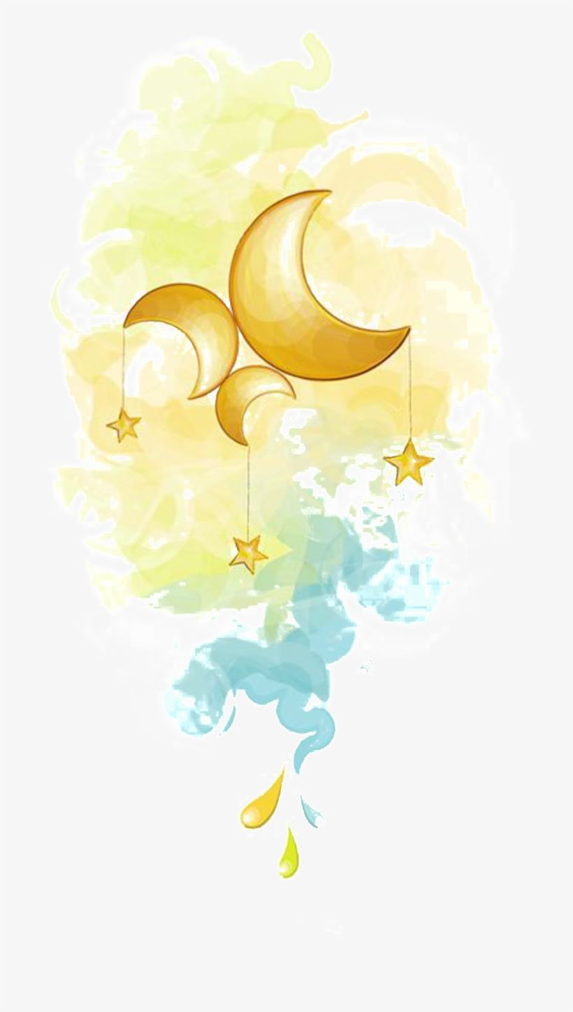 Download Painted Fairy Moon And Star Pattern Elements Stars And Moon Watercolor Clipart Png Image For Free Searc Watercolor Moon Moon Art Dream Illustration