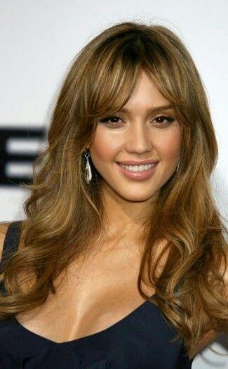 Jessica Alba Curtain Fringe Celebrity Hair Inspiration Jessica Alba Hair Hair Styles