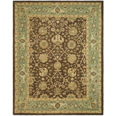 Safavieh Antiquity Brown Green 10 Ft X 14 Ft Area Rug At21g 10