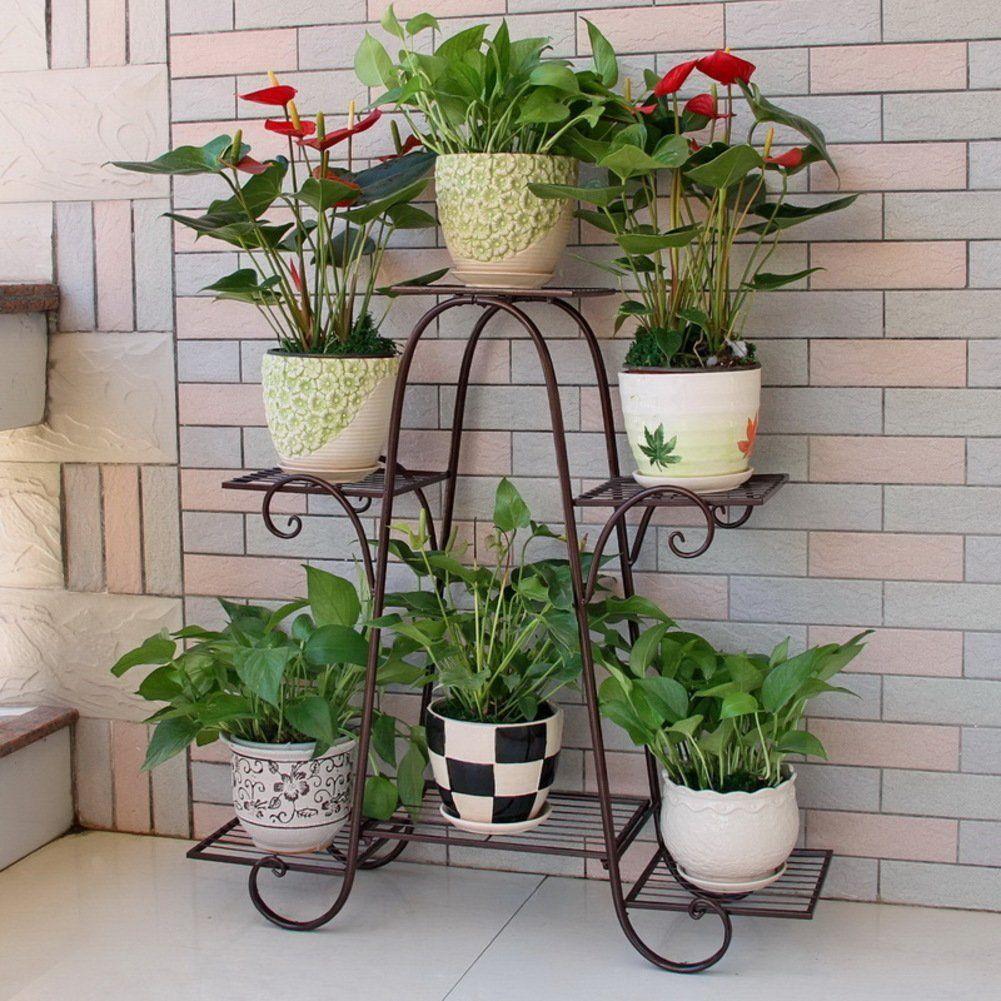 Amazon Com European Lron Flower Rack Multi Storey Balcony Living