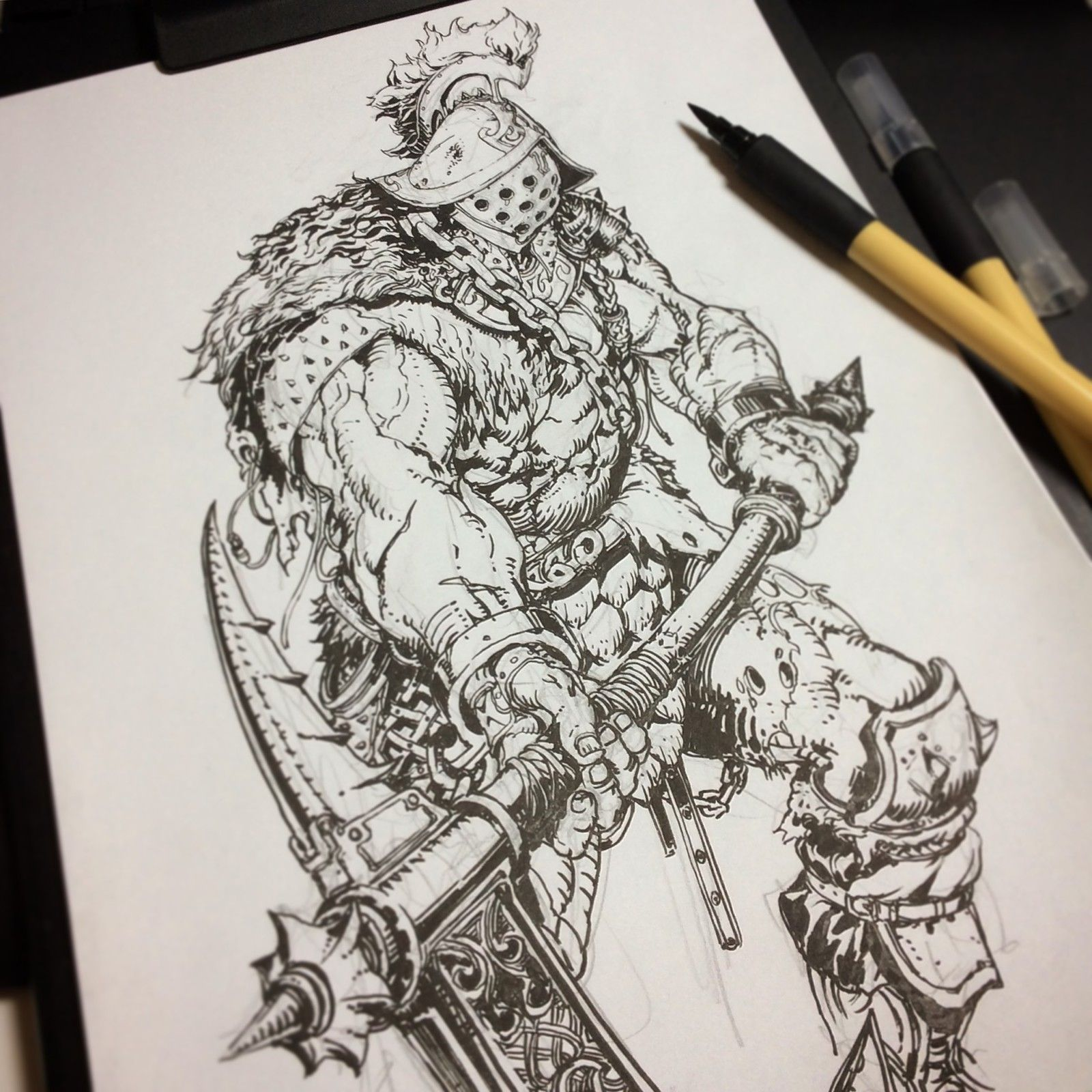 Brushes For Character Design : Stato fantasy characters brush pen ozo on