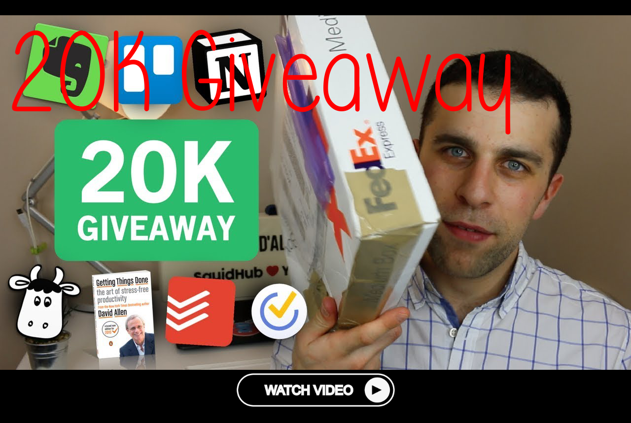 20K Giveaway Big Evernote Package Lots More!
