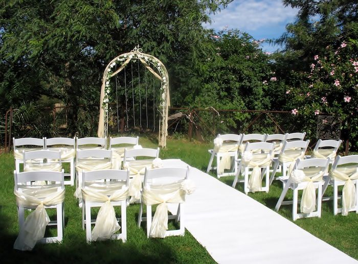 White Carpet Aisle Runner Wedding Ceremony Adelaide Americana Chairs Arch