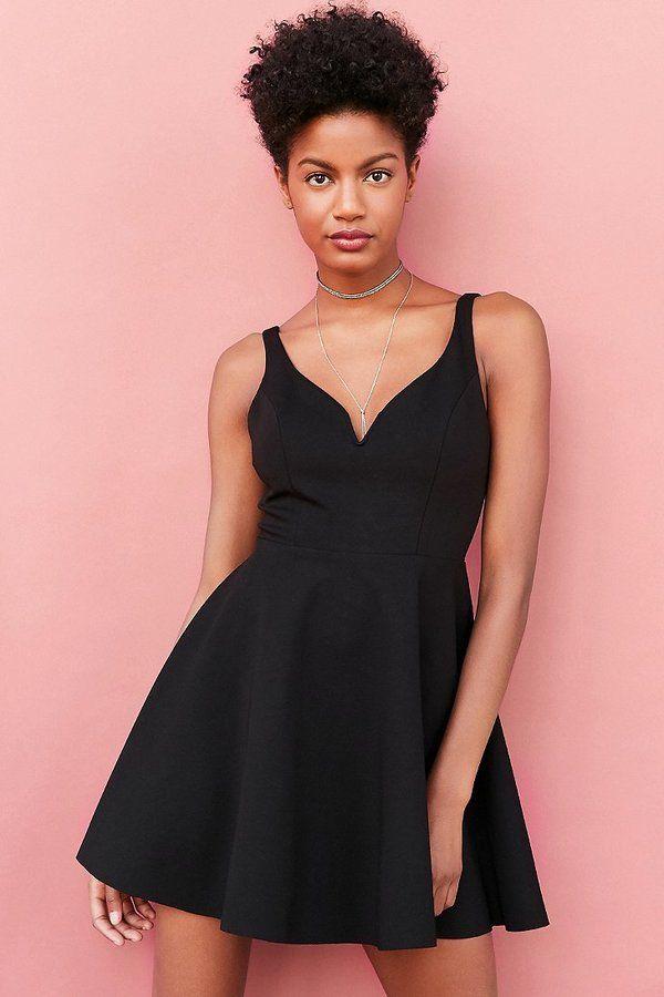 Kimchi Blue Heart Of The Ocean Sweetheart Mini Dress   Little Black ...